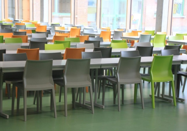 Hoth in einer Schulcafeteria in Belgien